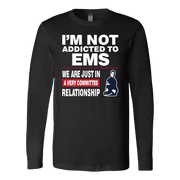 Image of I'm Not Addicted To EMS - Soft Canvas Long Sleeve Shirt