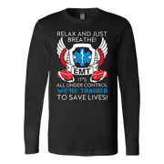 Image of Trained To Save Lives - Soft Canvas Long Sleeve Shirt