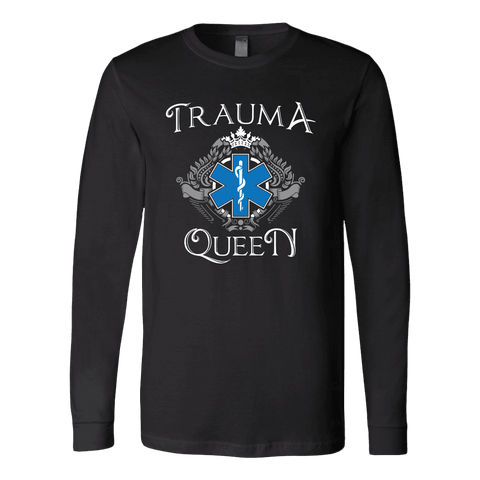 Image of Trauma Queen - Soft Canvas Long Sleeve Shirt