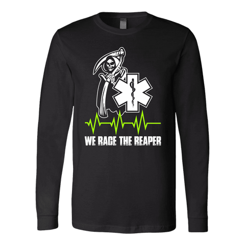 We Race The Reaper - Soft Canvas Long Sleeve Shirt