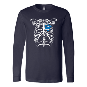 EMT Heart In Ribcage - Soft Canvas Long Sleeve Shirt