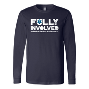 Image of Fully Involved EMS - Soft Canvas Long Sleeve Shirt