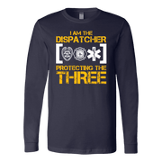 Image of I am The Dispatcher Protecting the Three - Soft Canvas Long Sleeve Shirt