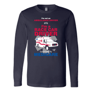 Image of Race Car Driver Sponsored By Medicare - Soft Canvas Long Sleeve Shirt