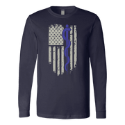 Image of Snake Staff Flag - Soft Canvas Long Sleeve Shirt
