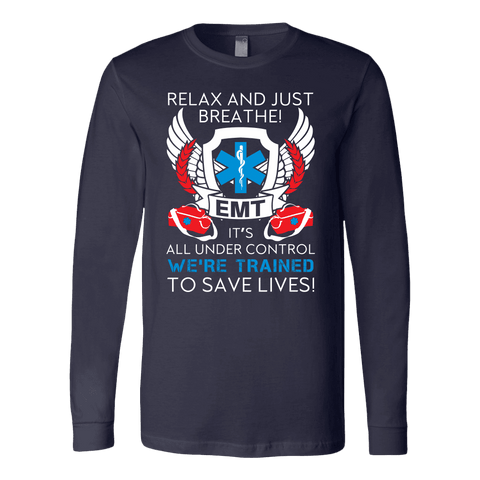 Trained To Save Lives - Soft Canvas Long Sleeve Shirt