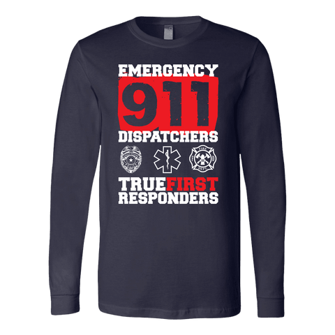 Image of True Rirst Responder 911 Dispatchers - Soft Canvas Long Sleeve Shirt