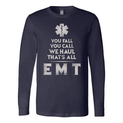 You Fall You Call - Soft Canvas Long Sleeve Shirt