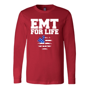 EMT For Life - Soft Canvas Long Sleeve Shirt
