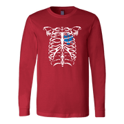 Image of EMT Heart In Ribcage - Soft Canvas Long Sleeve Shirt