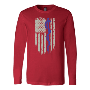 Snake Staff Flag - Soft Canvas Long Sleeve Shirt