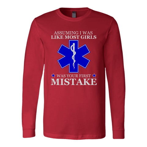 Your First Mistake - Soft Canvas Long Sleeve Shirt