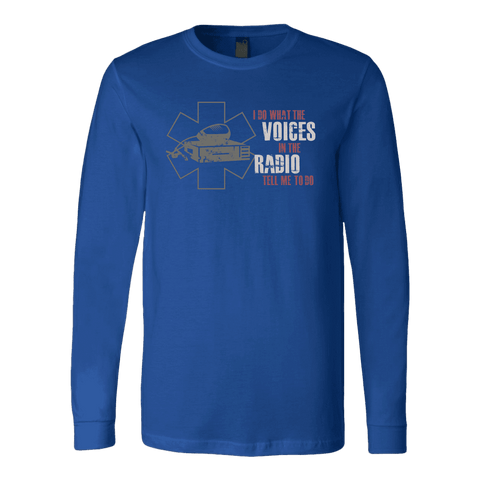 Image of I Do What The Voices On The Radio Tell Me - Soft Canvas Long Sleeve Shirt