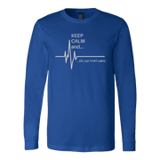 Image of Keep Calm and ok Not That Calm - Soft Canvas Long Sleeve Shirt