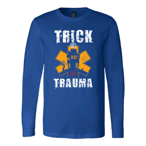 Image of Trick Or Trauma - Soft Canvas Long Sleeve Shirt