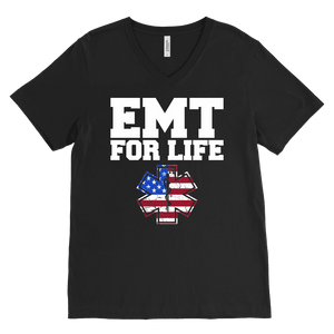 Emt-For-Life - Canvas Mens V-Neck