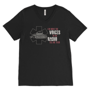 Image of I Do What the Voices on the Radio Tell Me - Canvas Mens V-Neck
