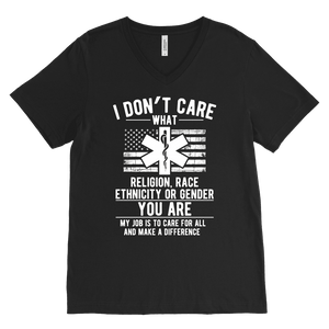 I Don't Care You Are a Paramedic - Canvas Mens V-Neck