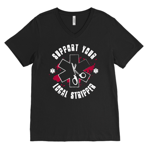Support Your Local Stripper - Canvas Mens V-Neck