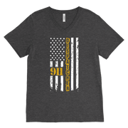 Image of 911 Dispatcher Flag - Canvas Mens V-Neck