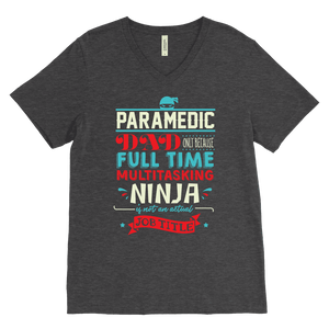 Paramedic Ninja Dad - Canvas Mens V-Neck