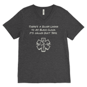 Image of There's a Silver Lining to My Black Cloud. It's Called Duct Tape - Canvas Mens V-Neck