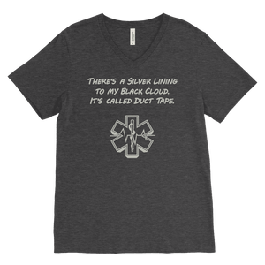 There's a Silver Lining to My Black Cloud. It's Called Duct Tape - Canvas Mens V-Neck