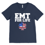 Image of Emt-For-Life - Canvas Mens V-Neck