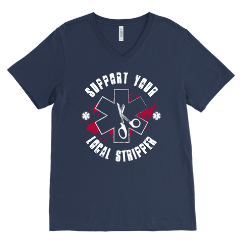 Image of Support Your Local Stripper - Canvas Mens V-Neck