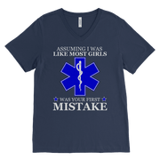 Image of Your First Mistake - Canvas Mens V-Neck