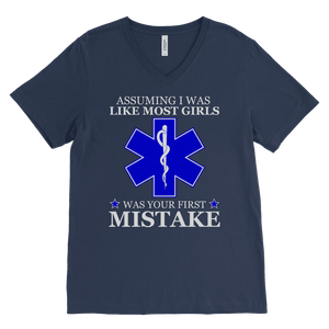 Your First Mistake - Canvas Mens V-Neck
