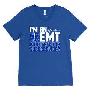 I'm an Emt - Canvas Mens V-Neck