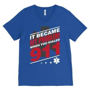 It Became My Problem-Emt - Canvas Mens V-Neck
