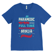 Image of Paramedic Ninja Dad - Canvas Mens V-Neck