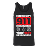 Emergency 911 Dispatchers True First Responders - Canvas Unisex Tank