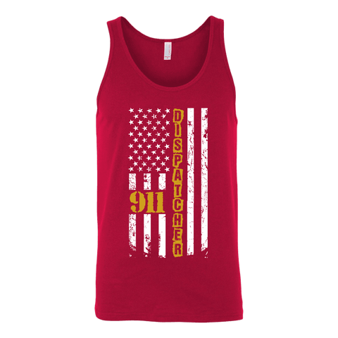 911 Dispatcher Flag - Canvas Unisex Tank