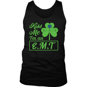 Kiss Me I'm An EMT - Soft District Mens Tank - Soft District Mens Tank