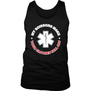 My Scissors Make Your Clothes Fall Off - Soft District Mens Tank