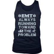 Image of EMT Always Running Towards The Problem - Soft District Mens Tank