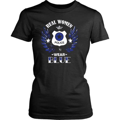 Image of Guarding Wings - Real Women Wear Blue Tanks and Shirts