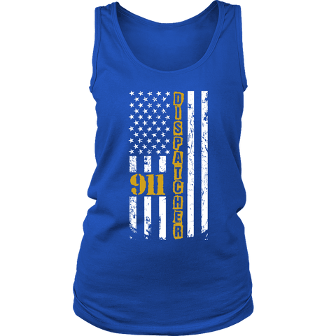 Image of 911 Dispatcher Flag - Soft District Womens Tank