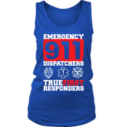 Image of Emergency 911 Dispatchers True First Responders - Soft District Womens Tank