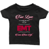 True Love Is Counting The Hours Until My EMT - Soft Infant T-Shirt