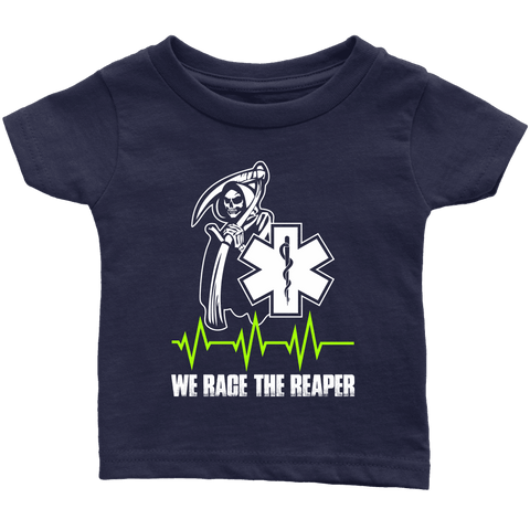 Image of We Race The Reaper-BACK - Soft Infant T-Shirt