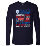 Image of America's Finest - Courageous & Strong Police Support Long Sleeve