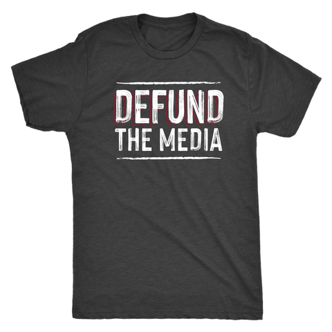 Defund the Media Triblend T-Shirt