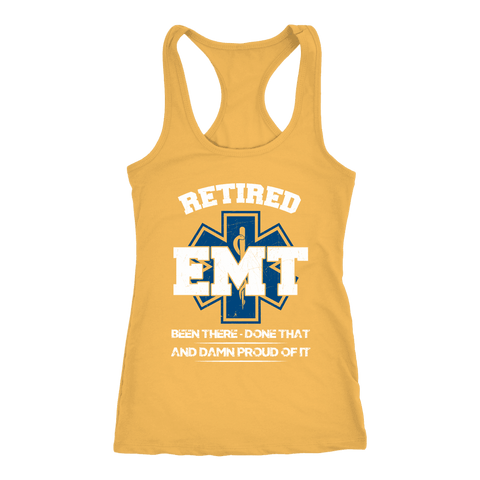 Image of Retired Emt Been There Done That - Next Level Racerback Tank