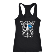 Image of Emt Heart in Ribcage - Next Level Racerback Tank