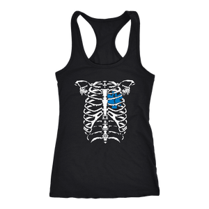 Emt Heart in Ribcage - Next Level Racerback Tank