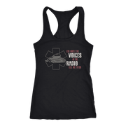Image of I Do What the Voices on the Radio Tell Me - Next Level Racerback Tank